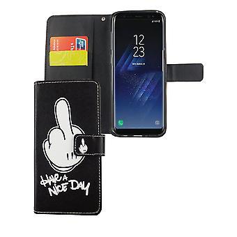 Matkapuhelin tapauksessa pussi mobiili Samsung Galaxy S8 + plus Hyvää päivänjatkoa musta