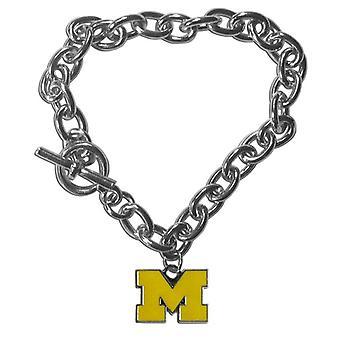 Michigan Wolverines NCAA Charm Bracelet