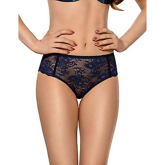 Vena VF-340 Women's Blue Floral Lace Knickers Panty Full Brief