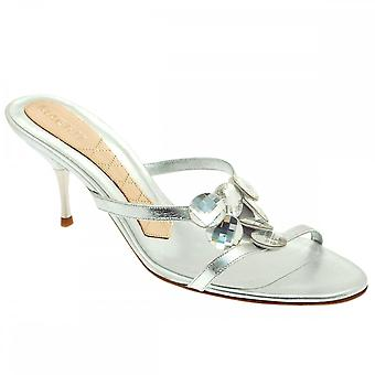 Magrit Strappy Slip On Mule With Crystal Detail