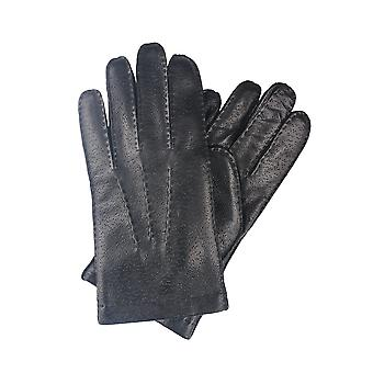 Phil Leather Gloves in Black