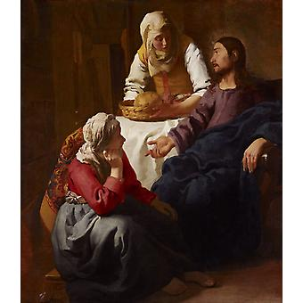 Christ in the House of Martha and Mary, Johannes Vermeer, 60x50cm