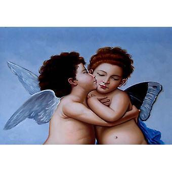 Anděl, olej na plátně 50x60 cm