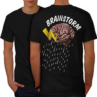 Ciencia creativa BlackT-camisa de los hombres detrás de cerebros | Wellcoda