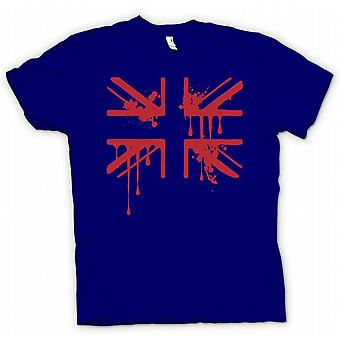 T-shirt-Grunge sangue Union Jack