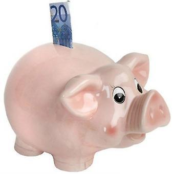 Hucha de dinero caja rosa