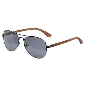 Aspect eyewear bamboo aviator polarised sunglasses