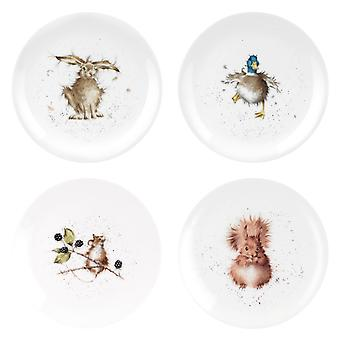 Wrendale Designs Set of 4 Coupe Side Plates