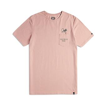Animal Venice Short Sleeve T-Shirt in Misty Rose Pink