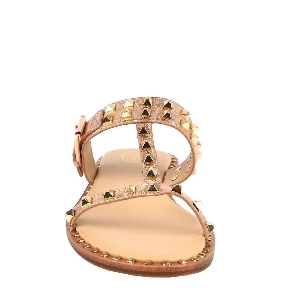 Ash PRINCE Sandals Rose Gold Leather & Studs