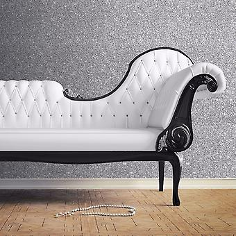 Muriva Couture Sparkle Silver Wallpaper Glitter Effect Shiny Shimmer Vinyl Heavy