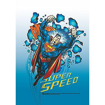 Superman Super Speed Large Fabric Poster/Flag 1050mm x 750mm (hr)