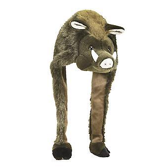 Wildsau hattu Wild Boar eläinten muhkeat hattu ruskea, villi SOW pää veluurinen pehmo