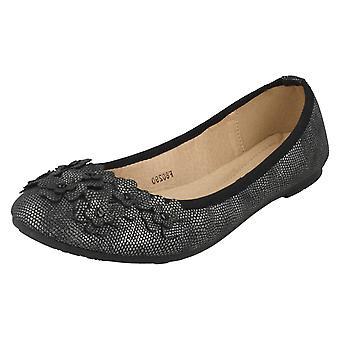 Dames plek op toevallige platte Ballerina schoenen F80290