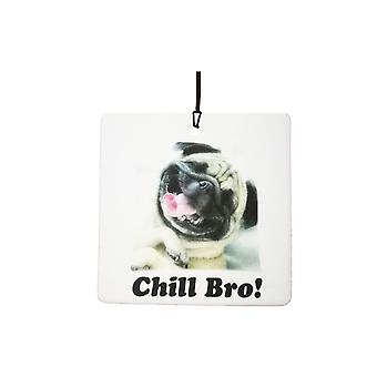 Pug Dog Chill Bro Car Air Freshener