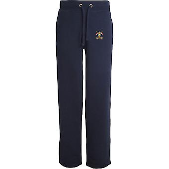 9.12. Royal Lancers veteran-licenseret British Army broderet åbne hem sweatpants/jogging bunde