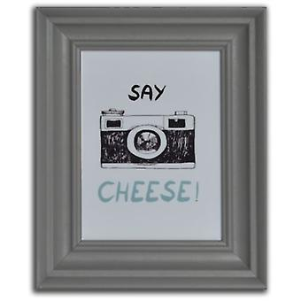 GAD Gray Wooden Scratched Portafoto  Say Cheese  20X25X3 Cm (Decoration , Frameworks)