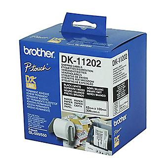Brother DK11202 300 per rulle-vit etikett