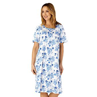 Slenderella ND4200 Women's Woven Floral Cotton Nightdress