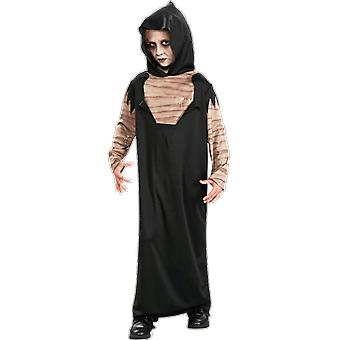 Kids Age 3 - 10 Years Mummy Costume Horror Grim Reaper Halloween Fancy Dress