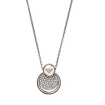 Emporio Armani Women's Chain in Stainless Steel with Crystal and Mother of Pearl Round EGS2365040