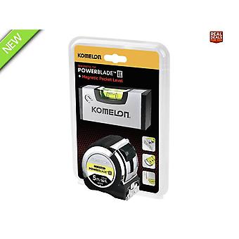 PowerBlade II Pocket Tape 5m/16ft (Width 27mm) with Mini level