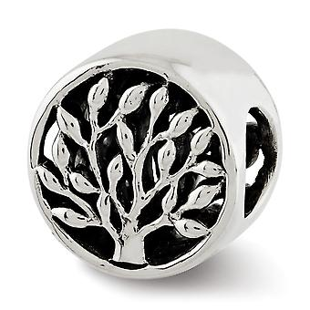 925 Sterling Silver Polished finish Reflections Tree Bead Charm Pendant Necklace Jewelry Gifts for Women