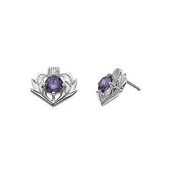Kit Heath Heritage Lavenda Thistle Amethyst Stud Earrings 3221AM018