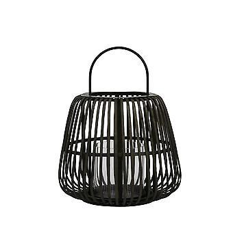 Light & Living Hurricane 37x43.5cm Mosta Bamboo Black With Handle
