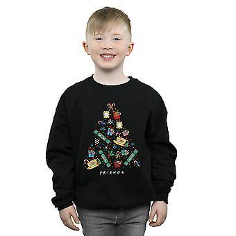Freunde Jungen Weihnachtsbaum Sweatshirt