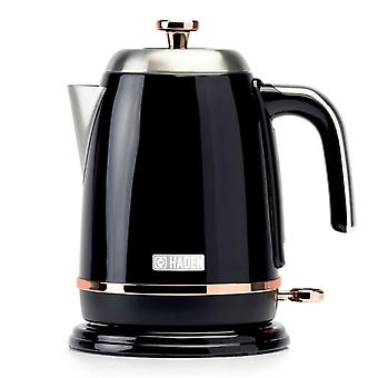 Haden 191137 Salcombe Jug Kettle 1.7L 3000W Black & Copper 2 Year Guarantee