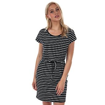 Womens Vero Moda April Stripe Dress In Black / Snow White