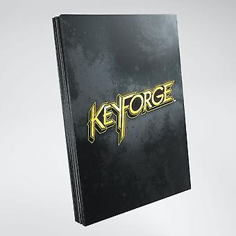 Keyforge Logo Card Mangas Negro (40) Paquete Individual