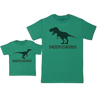 Daddyasaurus & Babyasaurus - Set di corrispondenza - Bambino / Bambini T-Shirt & Papà T-Shirt
