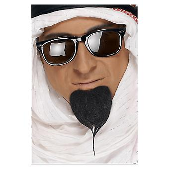 Arab Black Beard Fake Goatee Arabian Prince Sultan Facial Hair
