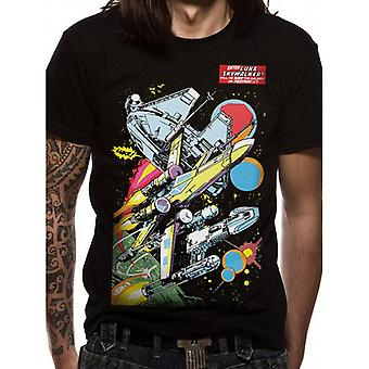 Star Wars voksne unisex voksne tegneserie skibe design T-shirt