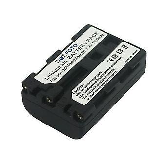 Batterie de remplacement Sony NP-FM55H de Dot.Foto - 7.2V / 1400mAh - garantie de 2 ans - Sony Alpha DSLR-A100