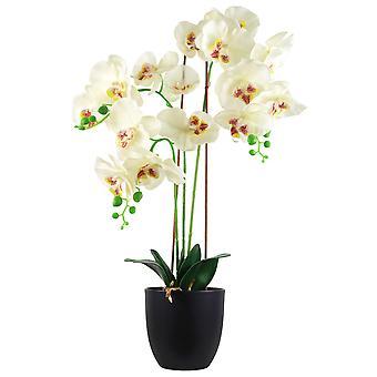 70cm gran orquídea artificial blanco