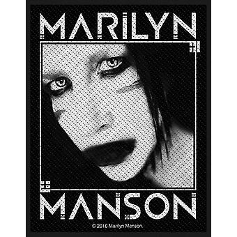 Marilyn Manson Patch Villain Logo new Official Woven (10cm x 10cm)