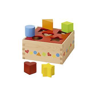 Goki Trä Sortering Box - Olika former