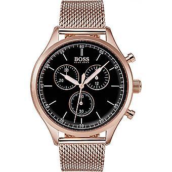 Hugo Boss 1513548 - horloge chronograaf stalen rood man