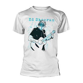 Ed Sheeran akustinen kitara jako moninkertainen virallinen T-paita