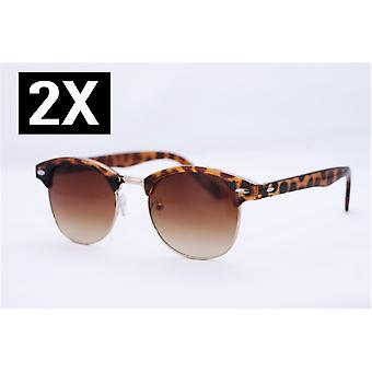 2pack sunglasses Clubmaster TORTOISE / turtle