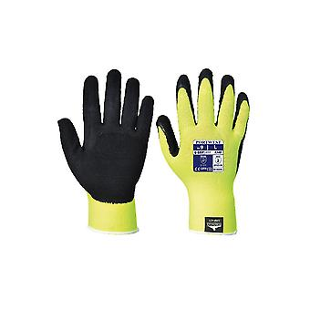 Portwest hi-vis grip glove - latex a340
