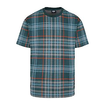 Urban Classics Men's T-Shirt AOP Check Oversized Heavy