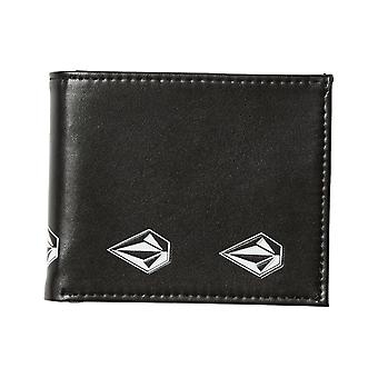 Volcom Empty Faux Leather Wallet in New Black