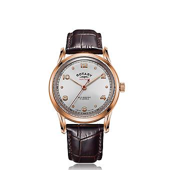Rotary GS05144-70 LIMITED EDITION Heritage Rose Gold Tone Wristwatch