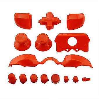 Button set for xbox one e microsoft controller full replacement repair kit - orange | zedlabz