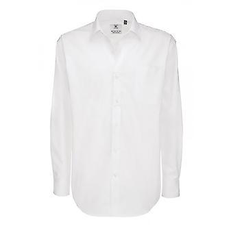 B&C Mens Sharp Twill Cotton Long Sleeve Shirt / Mens Shirts