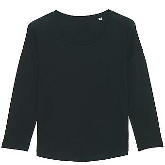 greenT Womens Organic Waver Slub Dropped Shoulder T Shirt
